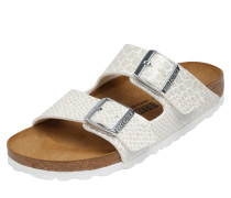 Sandale 'Arizona' silber / weiß