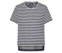 Shirt navy / weiß