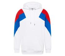 Sweatshirt royalblau / rot / weiß