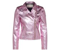 Jacke 'Biker Metallic' pink