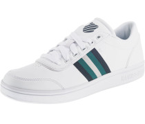 Sneaker 'Court Clarkson S' petrol / weiß