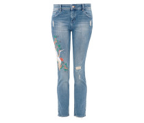 Casual Boyfriend: Embroidery-Jeans