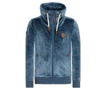 Zipped Jacket 'Ivic Mack Iii' taubenblau