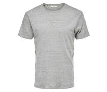 T-Shirt mit Rundhalsausschnitt grau