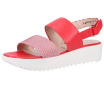 Sandalen altrosa / rot / weiß