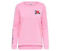 Sweater 'sound' grün / pink / rot / schwarz