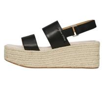 Plateau-Sandalette beige / schwarz