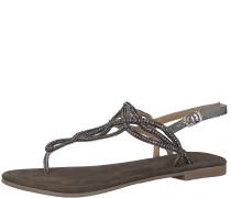 Sandale silbergrau / schwarz