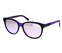 Sonnenbrille dunkellila / schwarz
