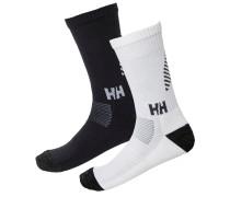 'W HH Lifa' Merino schwarz / weiß