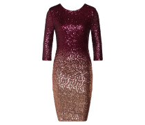 Kleid 'Ombre' gold / pink