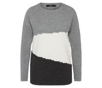 Pullover hellgrau / schwarz / weiß