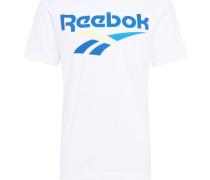 Shirt blau / pastellgelb / weiß
