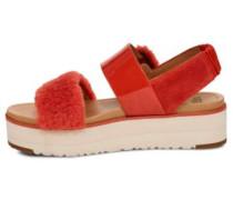 Sandale 'Fluff Chella' orangerot