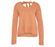 Grobstrick Pullover apricot