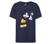 Shirt 'Mickey Flower' dunkelgrau