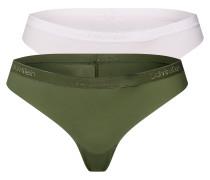 String beige / grün