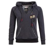 Sweatshirt 'benic' schwarzmeliert