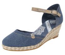 Sandale hellbeige / blue denim