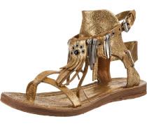 Klassische Sandale goldgelb