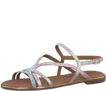 Sandale elegant silber