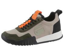 Sneaker anthrazit / oliv / orange