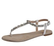 Sandalen mit Ziersteinbesatz silber