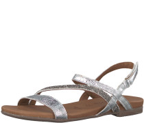 Riemchen-Sandale 'Glitter' silber