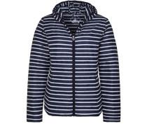 Daunenjacke 'chloe Stripes' marine / weiß