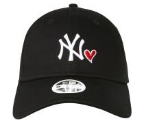 Cap 'heart 940 Neyyan' schwarz / weiß