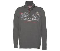 Pullover grau / rot / weiß
