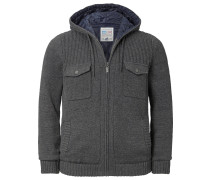 Outdoor Strickjacke 'Racin' grau