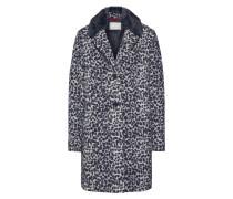 Mantel dunkelgrau / weiß