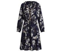 Kleid nachtblau / brokat / weiß