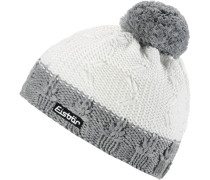 Mütze 'Crystal' graumeliert / weiß