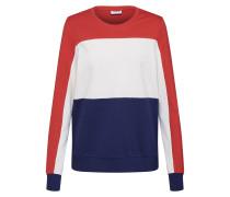 Sweatshirt rostrot / weiß