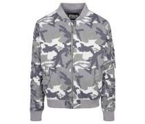 Vintage Bomberjacket grau / weiß