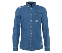 Hemd 'destroy Shirt' blue denim