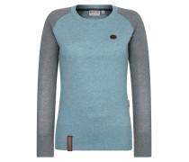 Pullover türkis / grau