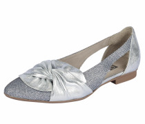 Slipper im Metallic-Look silber