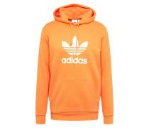 Hoodie orange / weiß
