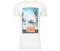 T-Shirt weiß / mischfarben