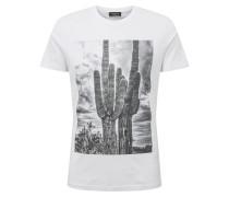 Shirt 'slhbree' grau / weiß