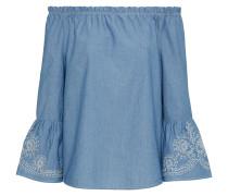 Bluse 'Penelope Chambray' blue denim