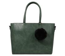 Handtasche in Leder-Optik dunkelgrün