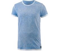'BY MY Side' T-Shirt Herren blaumeliert / weiß