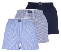 Boxer-Shorts blau / weiß