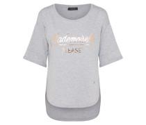 Shirt im Vokuhila-Schnitt graumeliert