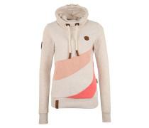 Sweatshirt beige / koralle / lachs