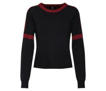Sweater feuerrot / schwarz